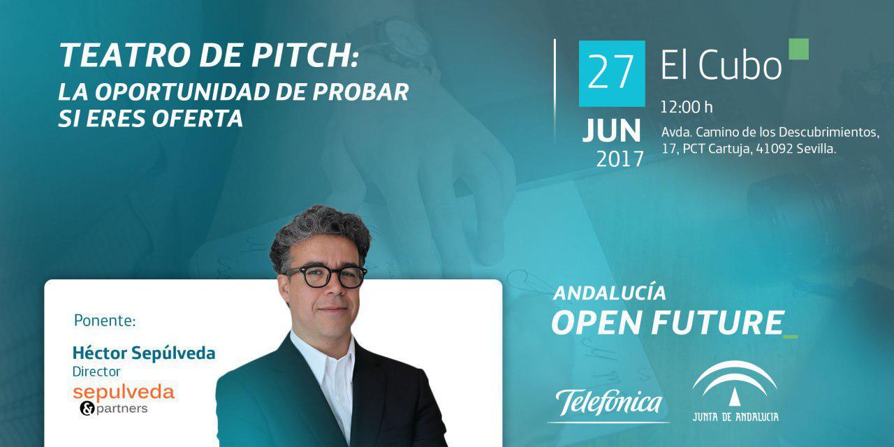 Héctor Sepúlveda con Teatro de Pitch