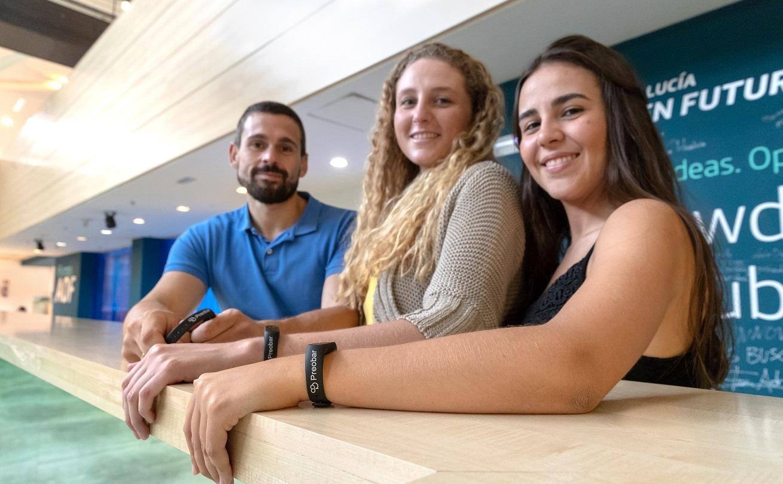 Marta Román y el equipo de Preobar