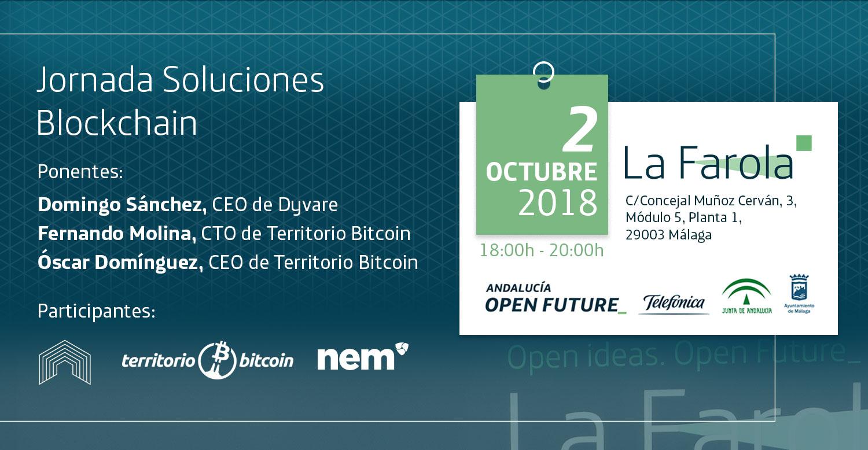 Jornada Soluciones Blockchain, en La Farola