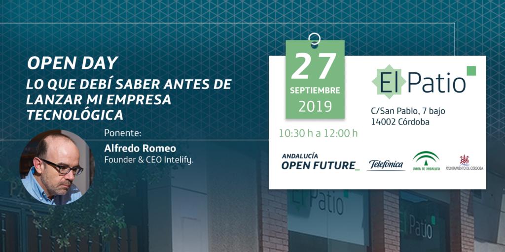 Open Day en El Patio el viernes 27 de septiembre