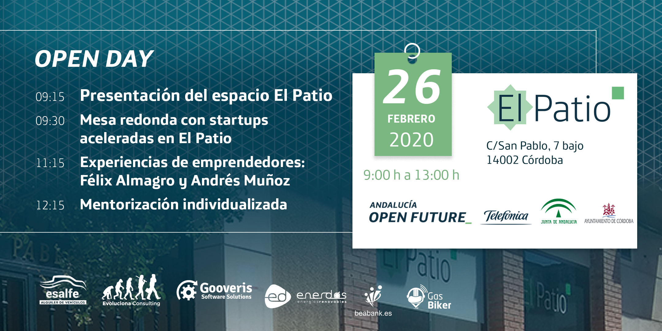 Open Day El Patio febrero
